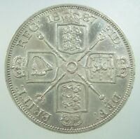 GREAT BRITAIN DOUBLE FLORIN 1887 SILVER B ROMAN I VICTORIA UK CROWN MONEY COIN