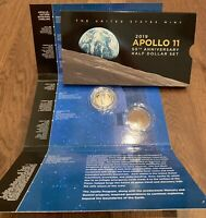 2019 S APOLLO 11 PROOF CLAD HALF DOLLAR W 50TH ANNIVERSARY SET PACKAGING  1 COIN