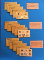 LOT OF 12 US MINT COIN PROOF SETS: 1961 1962 1963: 9 UNOPENE
