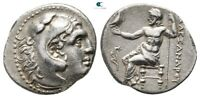 SAVOCA COINS ALEXANDER THE GREAT DRACHM ZEUS HERAKLES  3 98