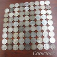 80 PC LOT PEACE SILVER ONE DOLLAR $1 COINS OLD USED CIRCULAT