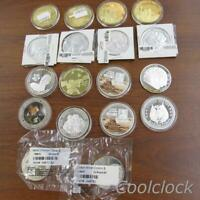 18 PC LOT COMMEMORATIVE SILVER ONE DOLLAR COIN COLLECTION LO