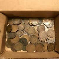 LOT OF CANADA LARGE CENT COINS MIXED DATES 1859 TO 1920 RUFF