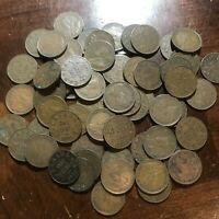 LOT OF 60  CANADA SMALL CENT GEORGE V CANADIAN PENNIES FOREI