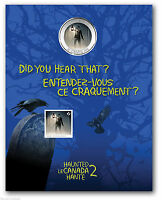 2014 HAUNTED CANADA 25 CENTS BRAKEMAN LENTICULAR COIN MINT IN ORGINAL PACKAGE