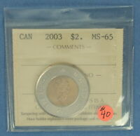 CANADA   2003   OLD EFFIGY  TWO DOLLARS TOONIE    ICCS GRADE