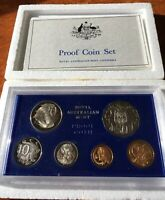 1974 AUSTRALIA   OFFICIAL PROOF SET  6    RAM BLUE HARD PLAS