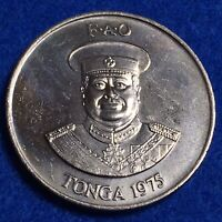 1975 TONGA 2 PA'ANGA   CHOICE UNC ALL ORIGINAL LARGE COIN