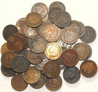 LOT OF 100 VARIOUS DATE INDIAN HEAD IH PENNIES CENTS 1859 19