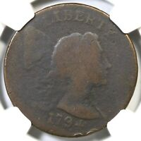 1794 S-20B R-5 NGC VG DETAILS HEAD OF 93 LIBERTY CAP LARGE CENT COIN 1C