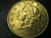 1901 S LIBERTY GOLD $20 NICE SWEET COIN C24