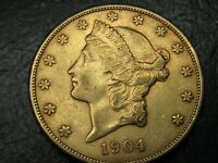 1904 S LIBERTY GOLD $20 NICE SWEET COIN C23