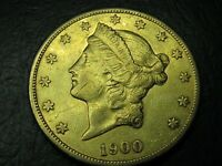 1900 S LIBERTY GOLD $20 NICE SWEET COIN C22