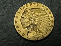 1914 INDIAN $2.50 GOLD QUARTER EAGLE AMAZING TOP QUALITY  CO