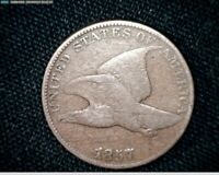 1857 FLYING EAGLE SMALL CENT PENNY J565