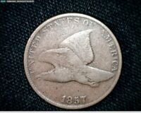 1857 FLYING EAGLE SMALL CENT PENNY J569