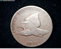 1857 FLYING EAGLE SMALL CENT PENNY J571