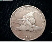 1858 FLYING EAGLE SMALL CENT PENNY SMALL LETTERS J582