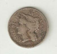 US THREE CENT PIECE MINTED IN 1868 1
