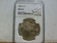 1882-S MORGAN SILVER DOLLAR NGC MINT STATE 64