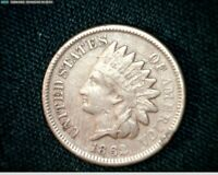 1862 COPPER NICKEL INDIAN HEAD SMALL CENT PENNY J601