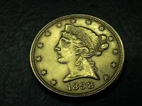 1898 $5 GOLD LIBERTY HALF EAGLE US GOLD COIN BRILLIANT BL42
