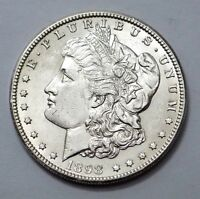 KEY DATE W/VAMDOUBLING AND DIE CRACK 1898-O UNC MORGAN DOLLAR SILVER COIN