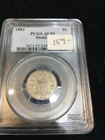 1883 SHIELD NICKEL PCGS AU55
