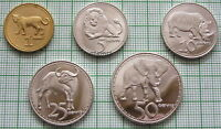 RHODESIA 2018 5 COINS SET ANIMALS UNUSUAL PRIVATE ISSUE