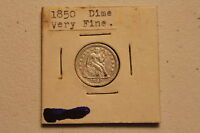 1850 PHILADELPHIA SEATED LIBERTY DIME GREAT DETAIL LOOK SEE PICTURES WITH ZOOM