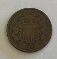 1869 UNITED STATES 2 CENTS COIN