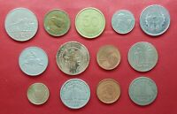 LOT MIX DIFFERENT 13 COINS  CYPRUS  NIGERIA  ECUADOR  UKRAIN