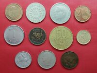 LOT MIX DIFFERENT 11 COINS  SIERRA LEONE  MAURITIUS COSTA RI
