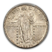 1923-S 25C STANDING LIBERTY QUARTER PCGS MINT STATE 64FH CAC