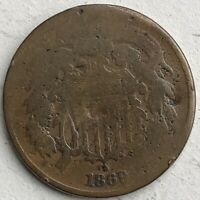 1869 TWO-CENT PIECE