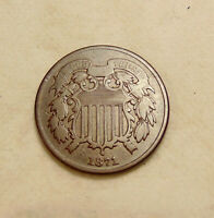 1871 TWO CENTS - BETTER DATE -   COIN - SHIPS FREE