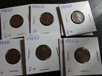 1925 D WHEAT CENT IN F/F CONDITION