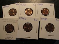 1959 D LINCOLN PENNY IN BU CONDITION