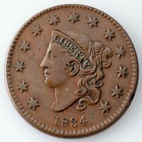 1834 LARGE CENT VF CONDITION, ALL BROWN COLOR,  DETAIL ON BOTH SIDES