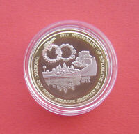 CAMBODIA 2018 60TH ANNV. OF CN AND KH DIPLO. RELSTIONS 100 RIELS TRI METAL COIN