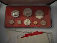 1974 CAYMAN ISLANDS PROOF COIN SET WITH SILVER ORG. BOX&COA