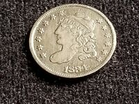 1834 CAPPED BUST SILVER HALF DIME, FULL DATE, FULL LIBERTY     D18