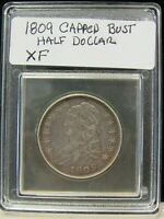 1809 CAPPED BUST HALF DOLLAR IN EX FINE CONDITION 13882-HALF-L
