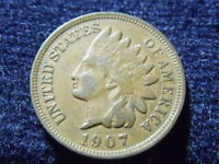 1907 INDIAN HEAD CENT PENNY VF DETAILS,  SHIPS FREE L-53