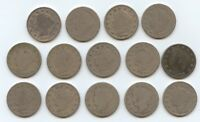FOURTEEN 1896 LIBERTY NICKELS 5920 LOWER GRADE COINS. READABLE DATES.