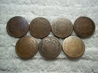 1864 1865 1866 1867 1868 1869 1870 TWO CENTS PIECE US NICE S