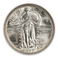 1917-D TYPE 1 STANDING LIBERTY QUARTER 25C NGC MINT STATE 67FH