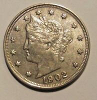 1902 LIBERTY NICKEL CH AU  COLLECTIBLE