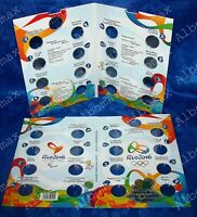 ALBUM FRO BRAZIL COINS 1 REAL 2016 OLYMPICS 2016 IN RIO UNC