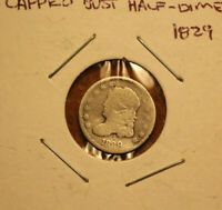 1829 CAPPED BUST HALF DIME 5C SILVER